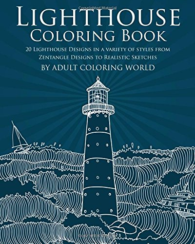 Lighthouse Coloring Book Zentangle Realistic