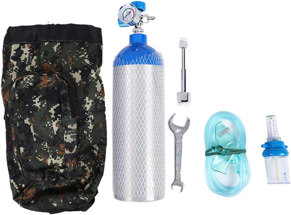 2L Package Bouteille de Cylindre de r/éservoir doxyg/ène Portable Professionnel 2L avec Sac /à Dos pour la Maison en Plein air Aufee Ensemble Bouteille doxyg/ène