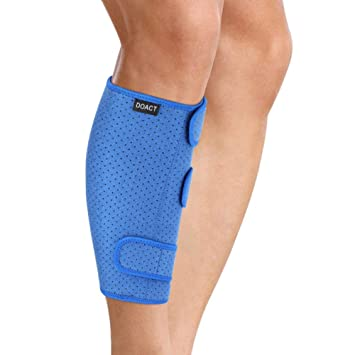 6376bd396f Calf Brace Wrap, Adjustable Shin Splint Support Lower Leg Compression Sleeve  for Pulled Calf Muscle