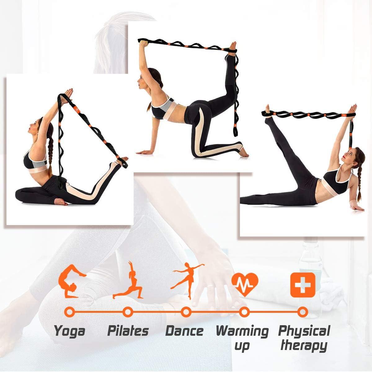Terapia F/ísica 5BILLION Correa Yoga /& Stretch Strap Yoga Strap para Yoga Caliente M/últiples Lazos de Agarre Mayor Flexibilidad /& Aptitud 4cm x 182cm