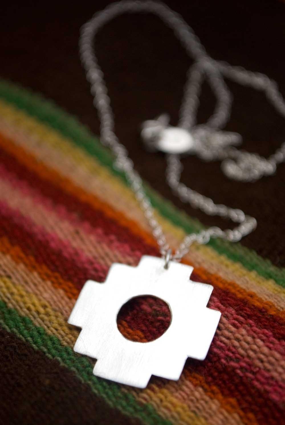 Amazon chakana andean inca cross necklace handmade aloadofball Images