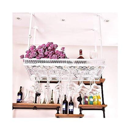 Armario para vinos Barras dobles de los barriles que cuelgan el sostenedor de las botellas de