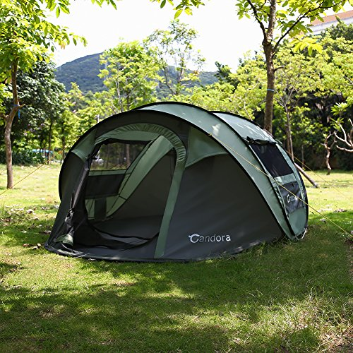 Candora 4-Person Instant Pop-Up Tent Pop Up Tent ...