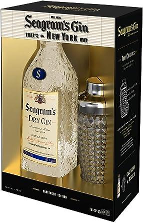 Seagrams Dry Ginebra Premium - 700ml + Regalo Coctelera: Amazon.es: Alimentación y bebidas