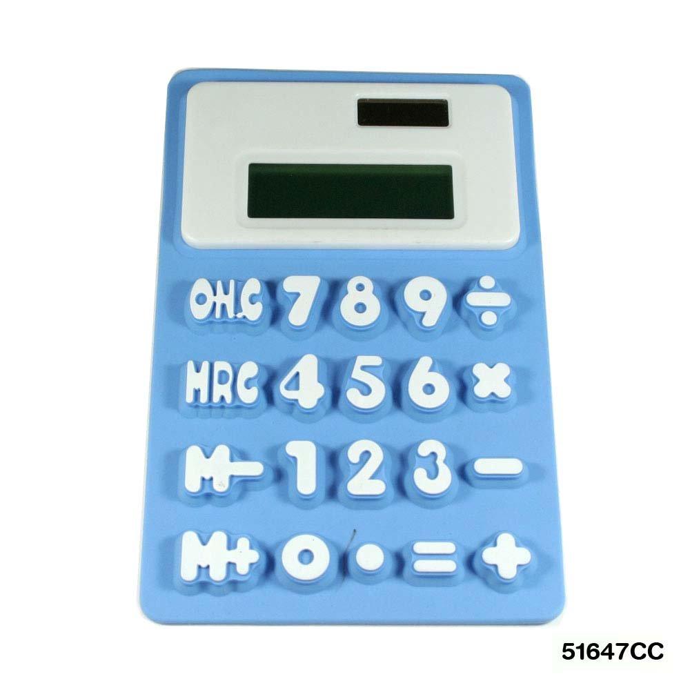Grande calcolatrice Flessibile in Gomma 8 cifre in blu Westland GmbH 51647CC