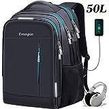 Mochila para Portatil Mochila Laptop USB Impermeable Mochila al Aire Libre Antirrobo Unisex Mochila de Viaje Bolsa de…