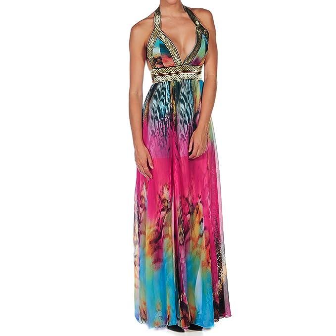 Bibei Vestido Largo Fucsia/Multicolor S