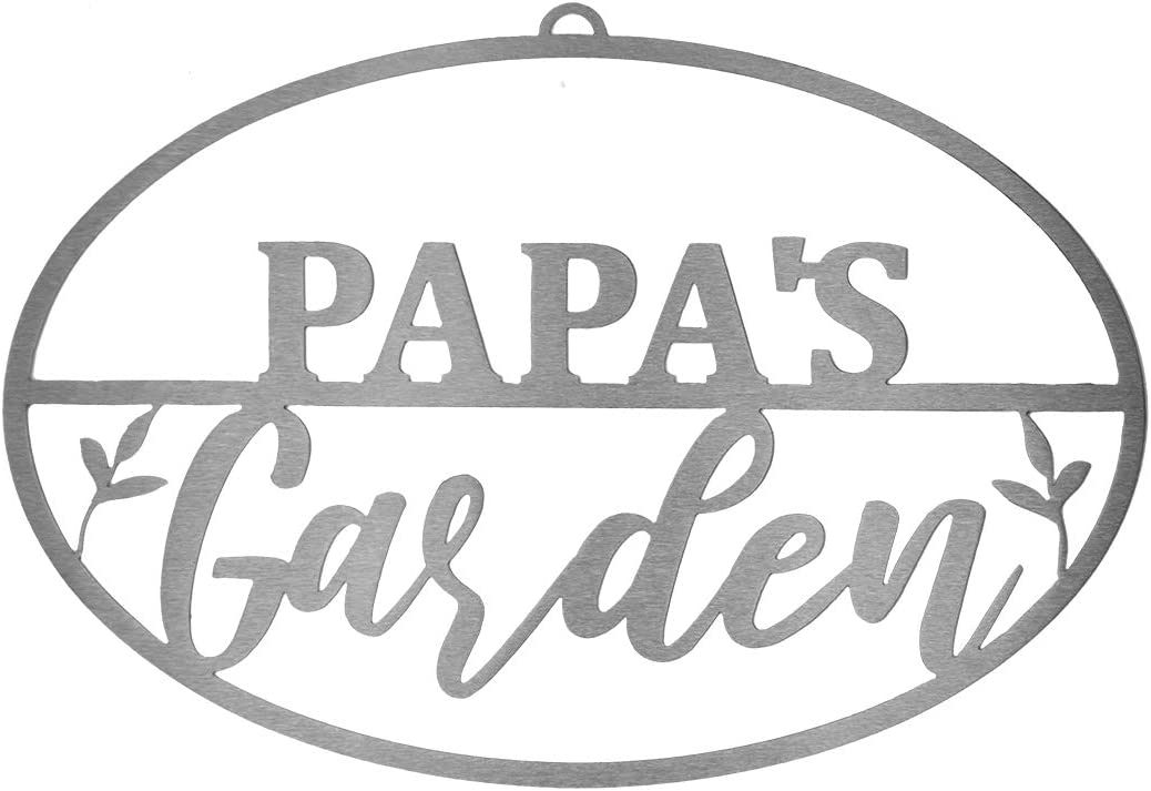 ROCC RUSTED ORANGE CRAFTWORKS CO. Garden Oval for Him (Papa's Garden Oval)