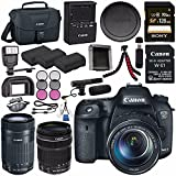Canon EOS 7D Mark II DSLR Camera with 18-135mm STM Lens 9128B016 + Canon W-E1 Wi-Fi Adapter + LPE-6 Lithium Ion Battery + Sony 128GB SDXC Card + Canon EF-S 55-250mm Lens Bundle