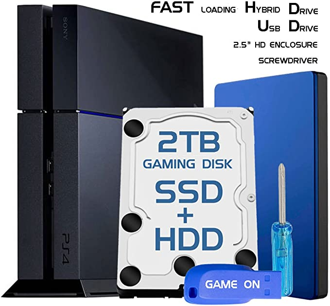 Skywin PS4 Slim alto rendimiento SSHD (SSD + HDD) Disco Duro de ...