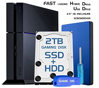 Amazon Com Skywin Ps4 Slim High Performance Sshd Ssd Hdd 2tb