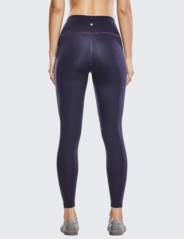 CRZ YOGA Womens Hugged Feeling High Waist Yoga Leggings Squat Proof Workout Tights-25 Inches