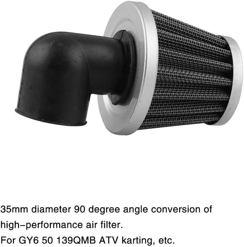 Candybarbar 35 mm 90 Grad Winkel gebogen Luftfilter f/ür 50cc-110 cc Go Kart Dirt Bike AF-12 Gebogene Tube Luftfilter Motorrad Zubeh/ör