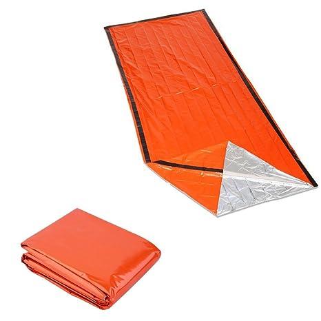 iCoco Emergency Saco de dormir momia saco de dormir reutilizable resistente al agua Rescate manta emergencia ...