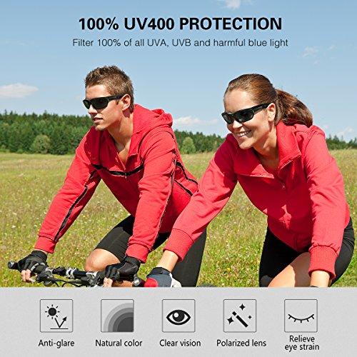 OMore Polarized Sports Sunglasses, Solar Shield...