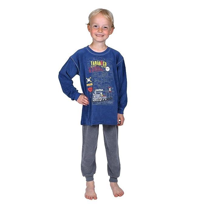 Betz Pijamas para niños 2 piezas con bordado Locomotora color azul tallas 80-116: Amazon.es: Ropa y accesorios