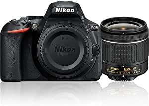 Nikon D5600 + AF-P 18-55mm VR Single Lens Kit, Black