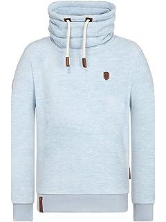 NAKETANO Ins Auge Blicken Hooded Sweatshirt for Men Grey