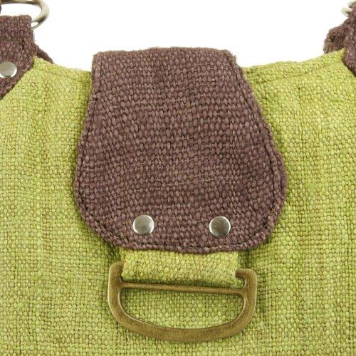 Earth-Divas-MH-131-GNB-Green-Brown-Hemp-Zipper-Closure-Center-Flap-Handbag