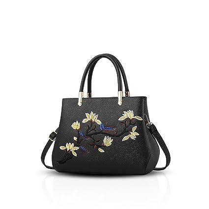 983da6799c0 NICOLE&DORIS Fashion Sweet Handbag Women Crossbody Shoulder Bag Purse Tote  Commuter PU Leather Black