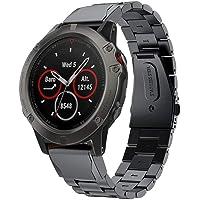 Supore Kompatibel med klockarmband för Garmin Fenix 5X/Fenix 6X, mjukt ersättnings-klockarmband i silikon för Garmin…