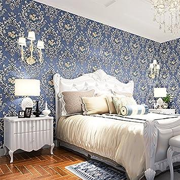 HEYUNu0026 High End 3D Stereoskopische Gold Geprägte Vliestapete Continental  Damaskus Schlafzimmer Raum Den