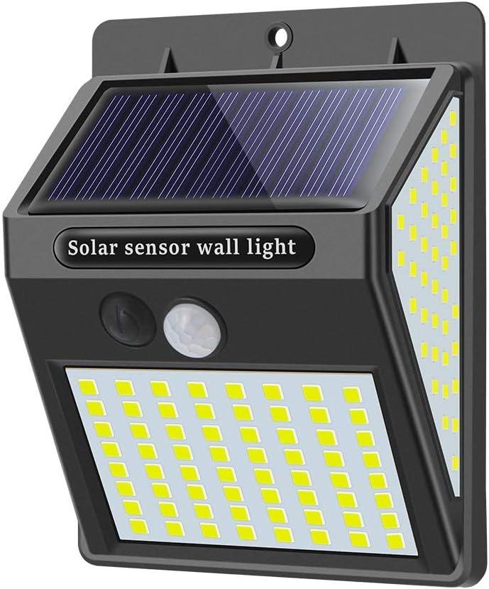 Upgraded Solar Light Outdoor 144 LED Motion Sensor Wall Light Waterproof Security Light 300/° Super Bright for Front Door,Garage,Yard,Fence 4 Pack