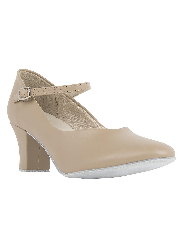 So Danca CH792 mit Ansteck Button Charakterschuhe Damen Latein Salsa Rumba Tanz Schuhe Riemchen Abs. 5 cm