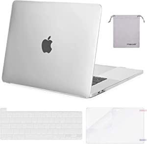 MOSISO MacBook Pro 16 inch Case 2020 2019 Release A2141, Plastic Hard Shell Case & Keyboard Cover & Screen Protector & Storage Bag Compatible with MacBook Pro 16 inch with Touch Bar,Matte Translucent