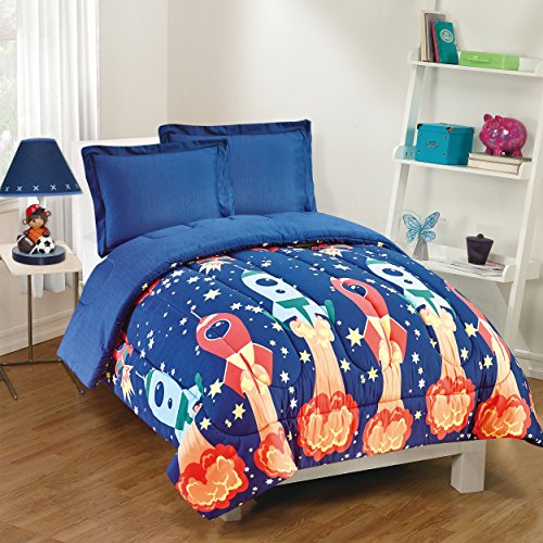 Gizmo Kids Blast Off Comforter Set, Twin, Navy