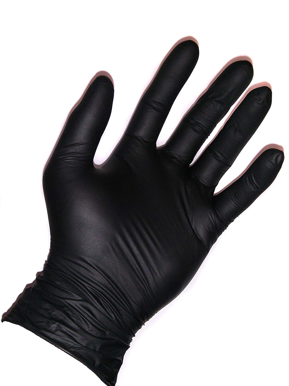 200, XL AURELIA BOLD Black Nitrile Powder Free Gloves 2 Boxes of 100 {200} 4.5mil Thickness