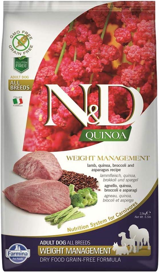 Farmina - Natural & Delicious Quinoa Weight Management Lamb Dry Dog Food, 5.5lbs