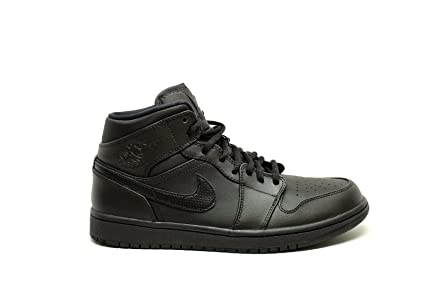 9dfeb893da26 Image Unavailable. Image not available for. Color  Jordan Nike Men s Air 1  Mid Black White Basketball Shoe ...