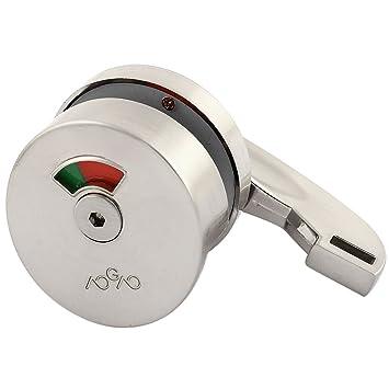 Alloy 180 Degree Rotating Knob Toilet Partition Door Lock Indicator