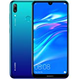 HUAWEI Y7 Prime 2019 32 GB 6.26 inch FullView HD+ Dewdrop Display Smartphone with Dual AI Camera, Android Sim-Free Mobile Phone, 4000 mAh Large Battery, Dual SIM Version, Aurora Blue