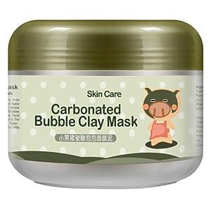 Prettyuk Masque de Boue Bulles d'oxygène profond Nettoyage des pores Anti-Acné Hydratant Visage Masque