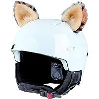 Crazy Ears Helm-accessoires oren kat tijger lux kikker, skioren geschikt voor skihelm, motorhelm, fietshelm en nog veel…