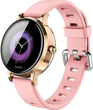 Reloj Inteligente Mujer, MUSSON Smartwatch Bluetooth Podómetro ...