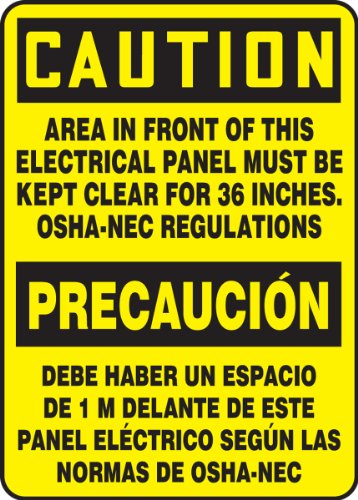 Accuform Signs SBMELC625VS Adhesive Vinyl Spanish Bilingual Sign, Legend