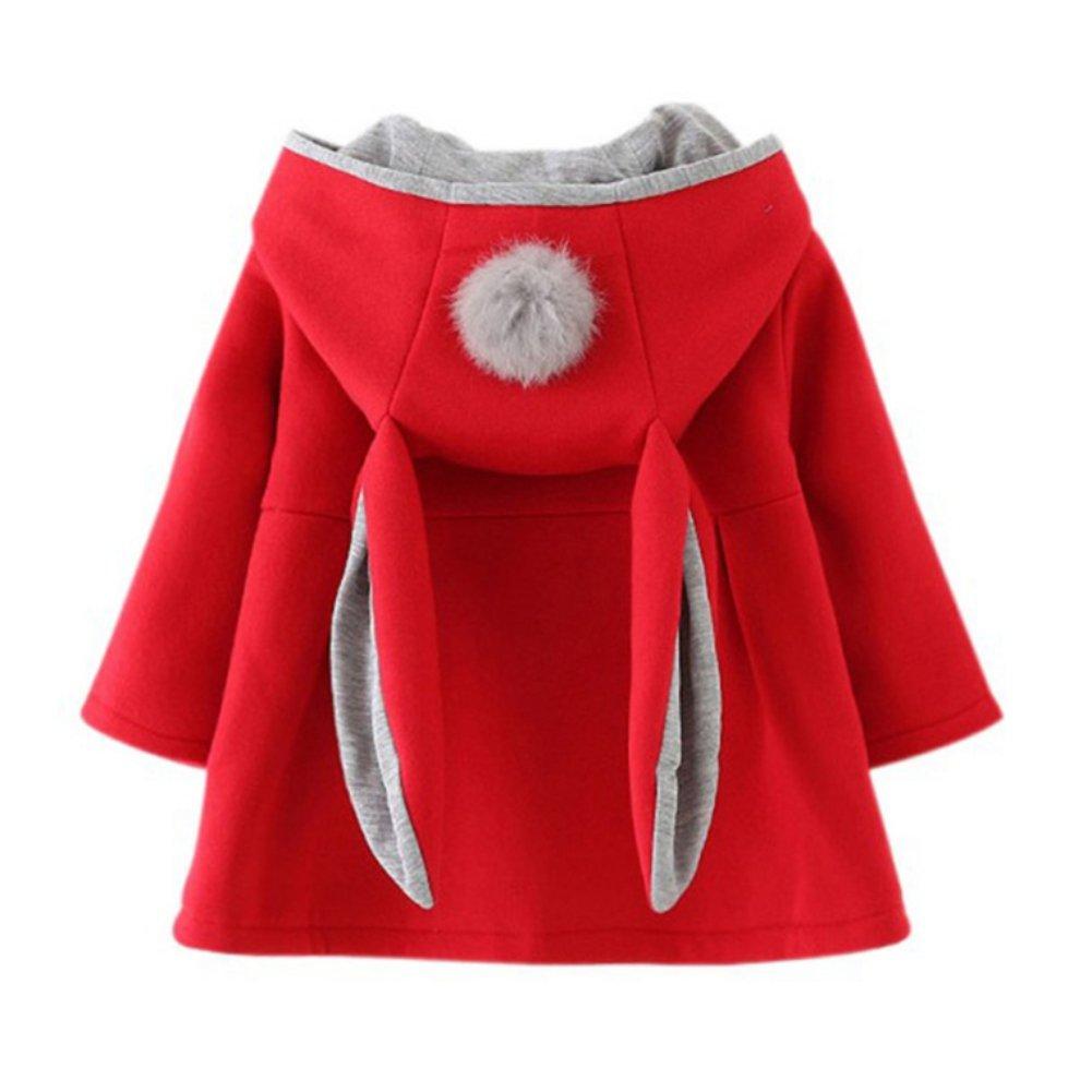 0-4T WEICICI Neonata Cappotto Caldo in Cotone con Orecchie di Coniglio