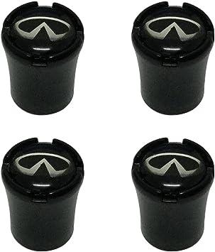 4pcs Black Car Wheel Tire Valve Caps Tyre Stem Air Caps 1pcs Wrench Keychain Auto Car Accessories Continental Designed Infiniti