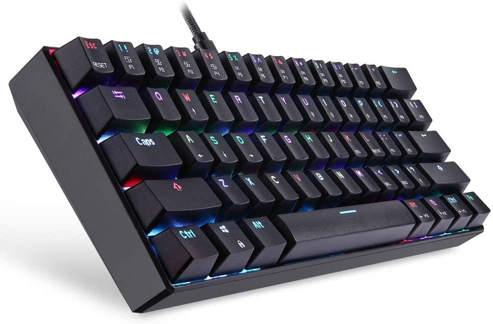 Blue DADUIZHANG Profession Game Mechanical 61-Key RGB Bluetooth Wired Multi-Device Keyboard Brown Switch