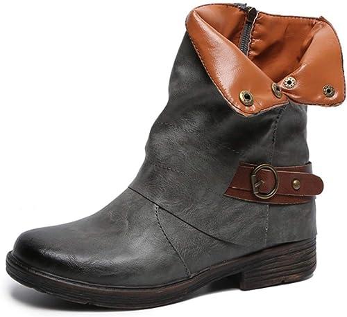 Chaussure Mode Plates Cheville Motard Bottine Boots Yogly zpVUqSM