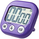DZT1968® LCD Digital Kitchen Cooking Timer Clock Loud Alarm With Stand (Purple)