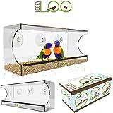 Acrylic Window Bird Feeder | Large Clear Suction Cups | Transparent Feeding Tray | See Through Birdhouse by LookyLoo