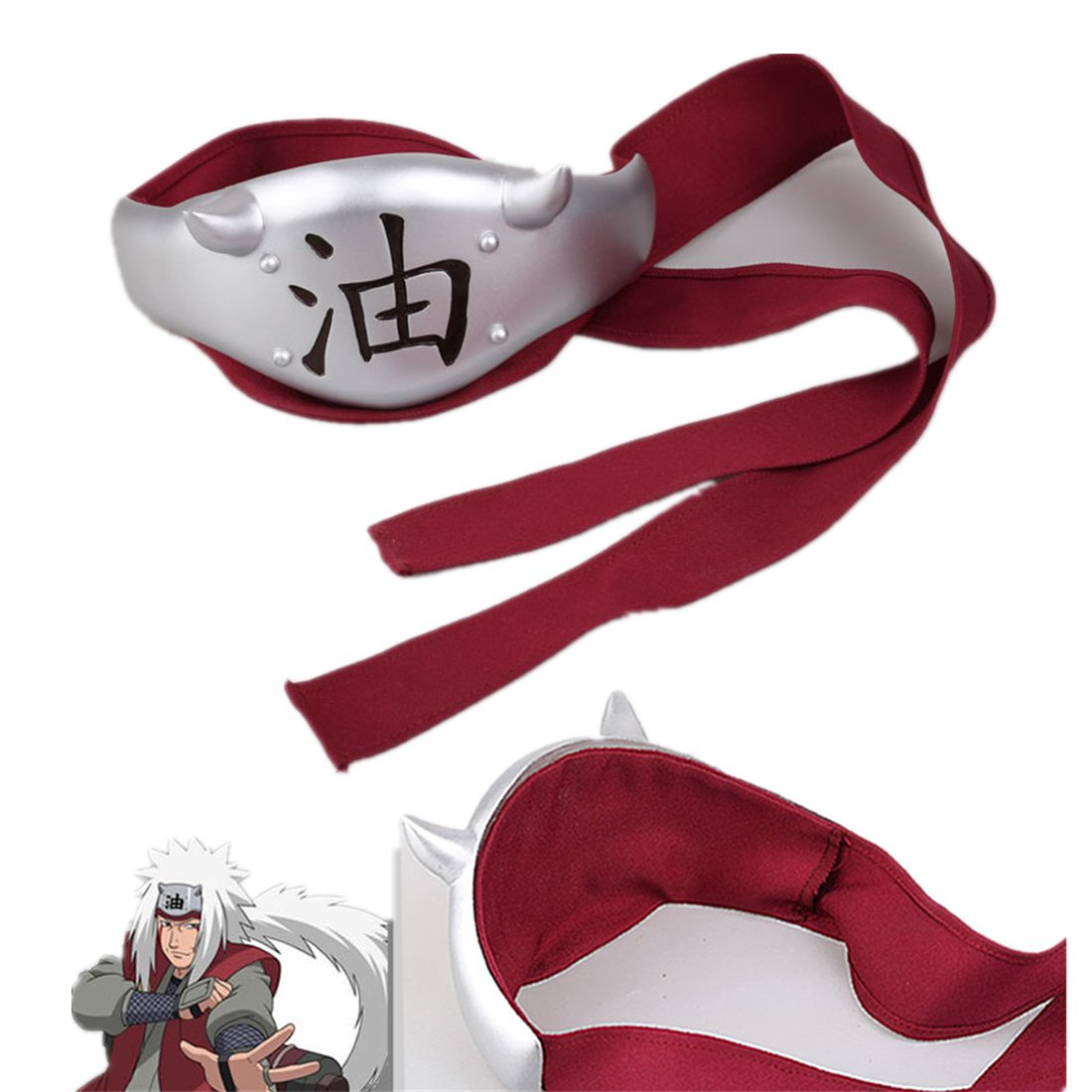 Love Anime Ninja Shinobi Cosplay Accessories Prop-Jiraiya Headband