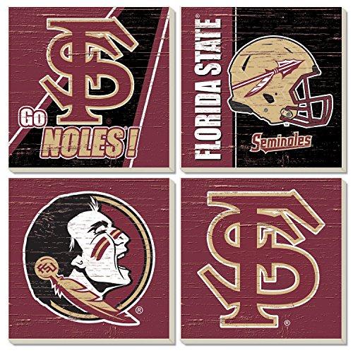 Square Collegiate Coasters (Set of 4) (Florida State)