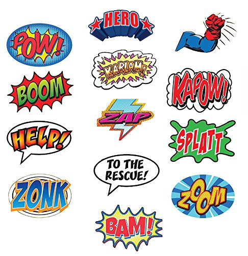 Word Cut Out - Large Superhero Word Cutouts (Size: 13
