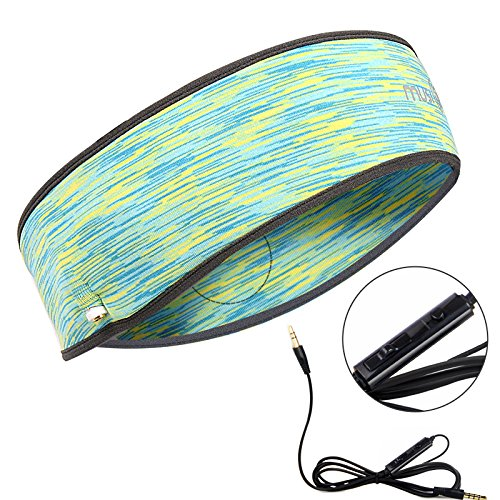 Headphones with Mic, Control Button,Lightweight Speakers Classic Headset Super Comfortable Headband for Sleeping, Sports, Workout, Yoga, Running, Exercise Accessories (Camouflage Green)