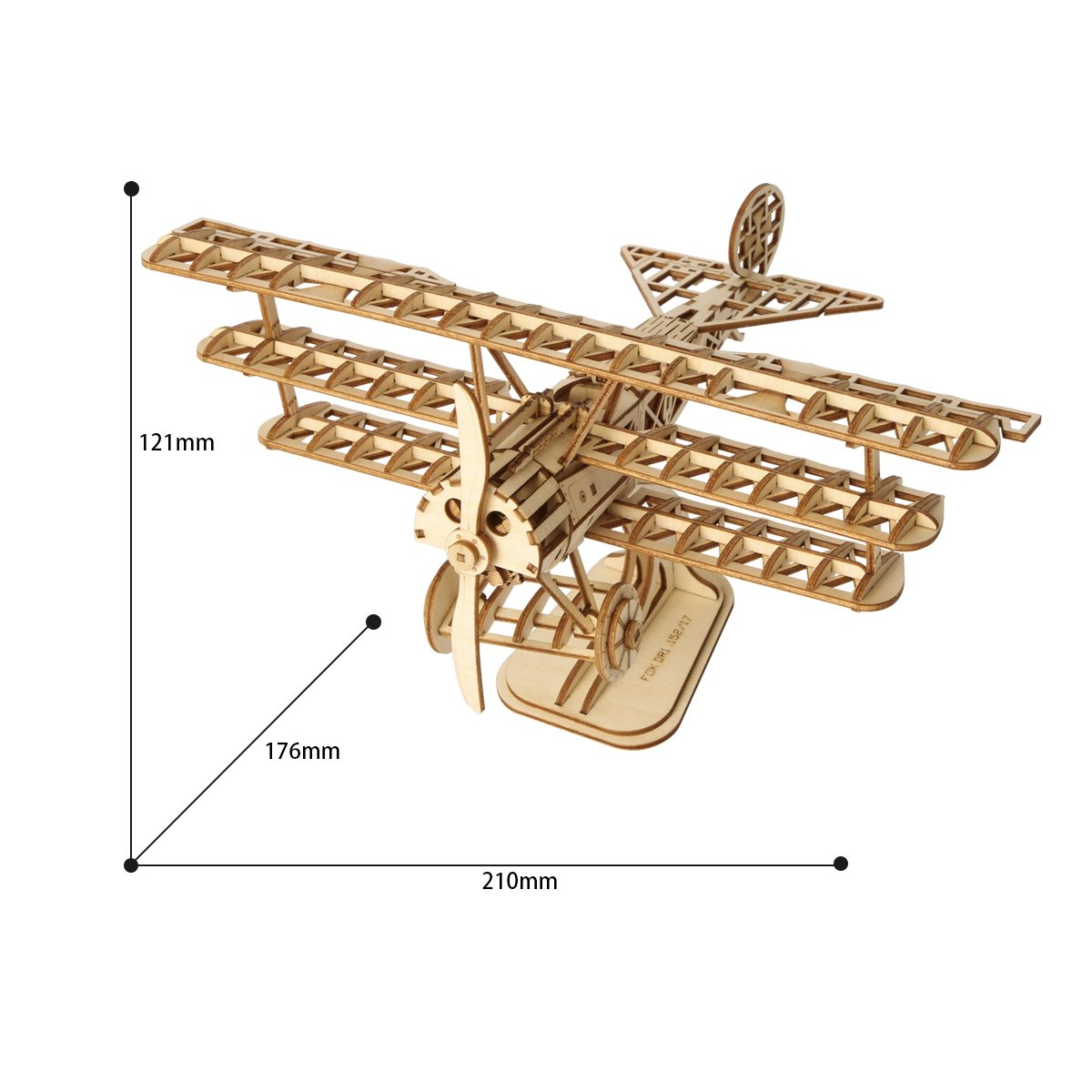 AIRPLANE Teens and Adults Rolife Woodcraft Construction Kit 3D Wooden Puzzle Kits DIY Toy Gift For Kids